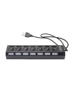 Multi LED 7 Ports High Speed USB Hub 2.0 480 Mbps USB On/Off Switch USB Splitter Peripherals For Computer/Laptop