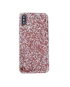 Silicon Bling Glitter Crystal Soft TPU Cover Case For Apple iPhone X / iPhone XS - Pink