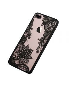 Lace Flower Hard TPU Case Floral Phone Case for Apple iPhone X - Eye