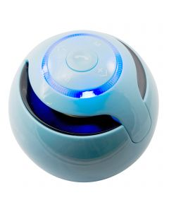 Wireless Bluetooth Subwoofer Circular Stereo Portable Mini Handsfree Speakers - Blue