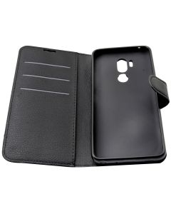 LG G7 PU Leather Wallet Cover Case - Black