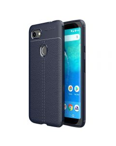 Soft Rubber Cover Shock Proof With Anti Slip Ultra Thin Phone Case Cover For Google Pixel 3a XL - Navi Blue