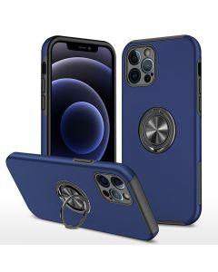 Shockproof 360 Magnetic Protective Case With Ring Holder For Apple iPhone 13 Pro - Blue
