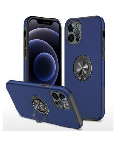 Shockproof 360 Magnetic Protective Case With Ring Holder For Apple iPhone 13 Pro Max - Blue