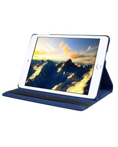 """Navy Blue iPad mini 1/ 2/ 3 360° Rotating Case / With Built In Stand / 7.9"""" iPad Mini Tablet / Rotates & Stands On Two Sides / PU Leather"""