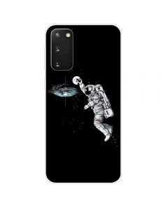 TPU Silicone Soft High Quality 3D Print Back Cover Case For Samsung Galaxy S20 5G - Astronaut Design