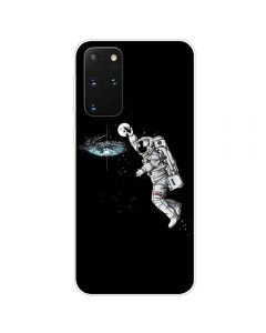 TPU Silicone Soft High Quality 3D Print Back Cover Case For Samsung Galaxy S20+ Plus 5G - Astronaut Design