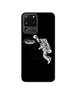 TPU Silicone Soft High Quality 3D Print Back Cover Case For Samsung Galaxy S20 Ultra 5G - Astronaut Design