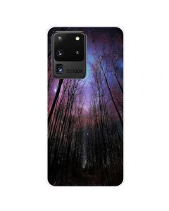 TPU Silicone Soft High Quality 3D Print Back Cover Case For Samsung Galaxy S20 Ultra 5G - Forest Design