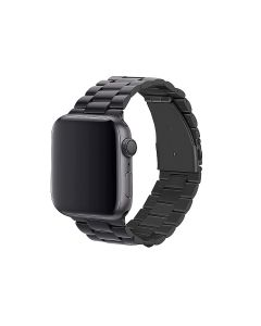 Watch Strap Resin Stainless Steel With Metal Buckle Band Bracelet For Apple iWatch Series 38/40mm - Black