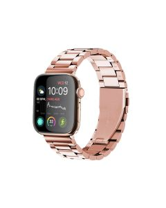 Watch Strap Resin Stainless Steel With Metal Buckle Band Bracelet For Apple iWatch Series 38/40mm - Rose Gold