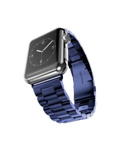 Watch Strap Resin Stainless Steel With Metal Buckle Band Bracelet For Apple iWatch Series 38/40mm - Blue