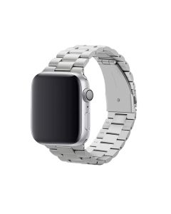 Watch Strap Resin Stainless Steel With Metal Buckle Band Bracelet For Apple iWatch Series 42/44mm - Silver