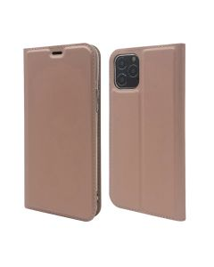 """Magnetic Wallet PU Leather Flip Case Card Holder Protective Case Cover For iPhone 12 6.1""""/ iPhone 12 Pro 6.1""""- Rose Gold"""