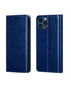 """Magnetic Wallet PU Leather Flip Case Card Holder Protective Case Cover For iPhone 12 / iPhone 12 Pro 6.1""""- Navy Blue"""
