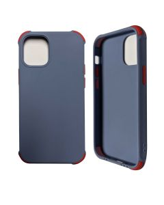 """Two-color Shockproof Anti Drop Soft Silicone Protective Cover Case For iPhone 12 6.1""""/ iPhone 12 Pro 6.1""""- Soft Blue"""
