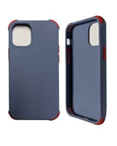 """Two-color Shockproof Anti Drop Soft Silicone Protective Cover Case For Apple iPhone 12 Pro Max 6.7""""- Soft Blue"""