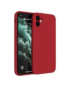 Slim Gel Rubber Shockproof Liquid Silicone Case Cover With Enhanced Camera Protection For Apple iPhone 11 6.1 - Red