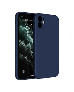 Slim Gel Rubber Shockproof Liquid Silicone Case Cover Enhanced Camera Protection For Apple iPhone 11 6.1 - Navy Blue