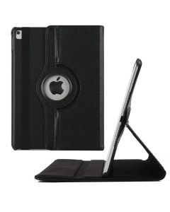 360 Degree Rotating Flip PU Leather Smart Case Cover For Apple iPad Air 10.5 (2019) / iPad Air 3 - Black