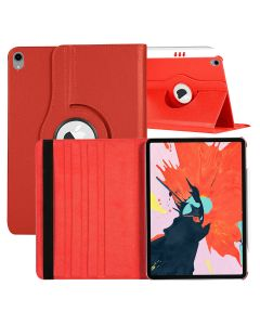 360 Degree Rotating Flip PU Leather Smart Case Cover For Apple iPad Air (2020) 10.9 / iPad Air 4 - Red