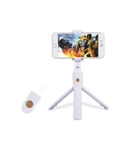 Selfie Stick Phone Tripod Wireless Bluetooth Detachable Remote Extendable Selfie Stick For iOS/Android Phones - White