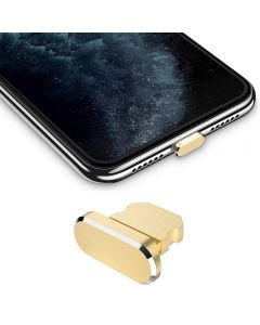 Metal Stopper Anti Dust Plug Charging Port Cap For All iPhone X XR XS Max 8+ 7 6S+ 11 12 Pro Max iPhones Only - Gold