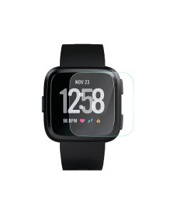 Fitbit Versa Smart Fitness Watch Tempered Glass Screen Protector HD Clear Precise Cut Protector