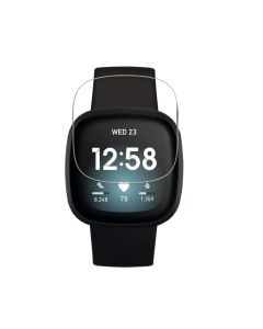 Fitbit Versa 3 Smart Fitness Watch Tempered Glass Screen Protector HD Clear Precise Cut Protector