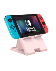 Adjustable Holder Stand Game Chassis Bracket Playstand Base Cradle Support For Nintendo Switch / Switch Lite - Pink