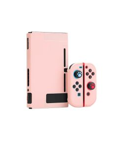 Lightweight Detachable Solid Grip Case Full Set Protective Case Cover For Nintendo Switch Console + JoyCons - Pink