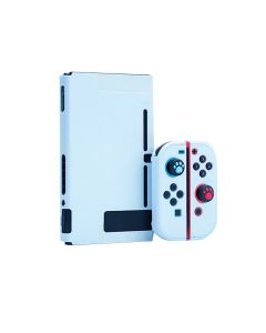 Lightweight Detachable Solid Grip Case Full Set Protective Case Cover For Nintendo Switch Console + JoyCons - Sky Blue