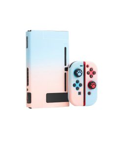 Lightweight Detachable Solid Grip Case Full Set Protective Case Cover For Nintendo Switch Console + JoyCons - Blue/Pink