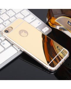 Luxury Mirror Flash Phone Case TPU Soft Protective Back Case Cover For Apple iPhone X (10) / iPhone XS - Gold