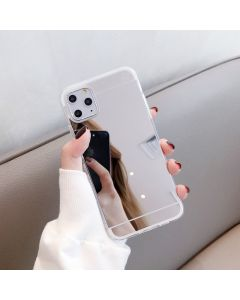Luxury Mirror Flash Phone Case TPU Soft Protective Back Case Cover For Apple iPhone 12 / iPhone 12 Pro - Silver
