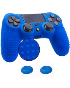 Studded Dots Silicone Rubber Gel Controller Protective Case Cover For Sony PS4 Dualshock 4 DS4 Controller - Blue
