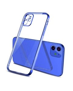 Luxury Plating Clear Case Ultra-thin Slim Transparent Fashion Back Cover Case For Apple iPhone 11 - Blue