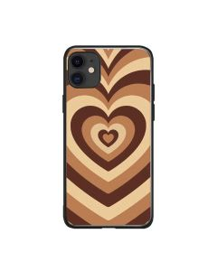 Soft Silicone Stylish Love Coffee Heart Design Back Phone Case Cover For Apple iPhone 12 / iPhone 12 Pro