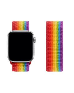 Adjustable Stretchy Nylon Solo Sport Loop Band For 38mm/40mm Apple iWatch Series 1/2/3/4/5/6 - Pride Edition