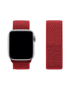 Adjustable Stretchy Nylon Solo Sport Loop Band For 42mm/44mm Apple iWatch Series 1/2/3/4/5/6 - Corn Flower