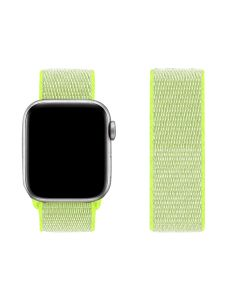 Adjustable Stretchy Nylon Solo Sport Loop Band For 42mm/44mm Apple iWatch Series 1/2/3/4/5/6 - Light Yellow