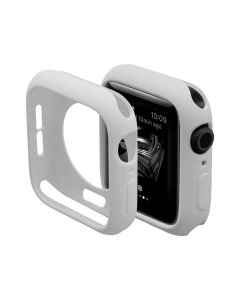 Ultra Thin Soft TPU Silicone Protective Shockproof Bumper Case Cover For 38mm Apple iWatch Series 1/2/3 - Vintage White