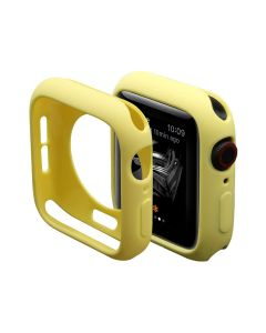 Ultra Thin Soft TPU Silicone Protective Shockproof Bumper Case Cover For 42mm Apple iWatch Series 1/2/3 - Yellow