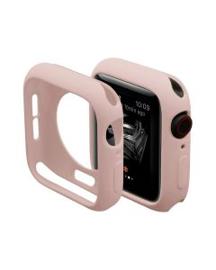 Ultra Thin Soft TPU Silicone Protective Shockproof Bumper Case Cover For 40mm Apple iWatch Series 4/5/6 - Pink