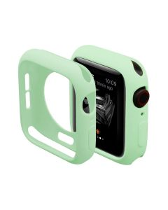 Ultra Thin Soft TPU Silicone Protective Shockproof Bumper Case Cover For 44mm Apple iWatch Series 4/5/6 - Green