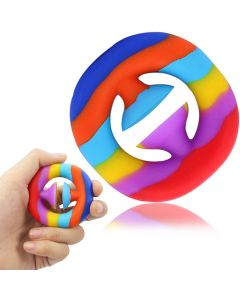 Stress Relief Snapper Pop Fidget Toy Party Popper Noise Maker Hand Grip Squeeze Sensory Toy For Kids / Adults - Rainbow