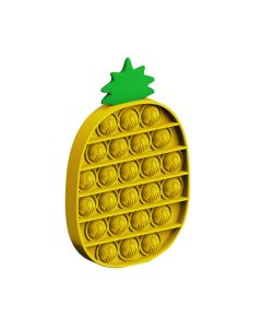Push Bubble Pop Fidget Toy Silicone Push Fidget Toy Turning Pressing Stress Reliever For Kids/Adults - Pineapple Yellow