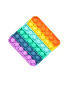 Rainbow Square Design Fidget Toy Push It Board Game Toy Stress Reliever