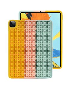 Multicolor Silicone Simple Push Bubble Pop Fidget Toy Protective Case Cover For Apple iPad Air (2020) / iPad Air 4