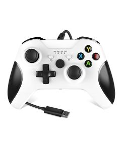 Wired Controller PC Console Game Controller Gamepad For Xbox One/One S/One X And PC - White